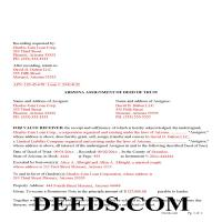 Navajo County Completed Example of the Assignment of Deed of Trust Document Page 1