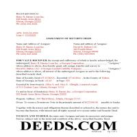 Jeff Davis County Completed Example of the Assignment of Security Deed Document Page 1