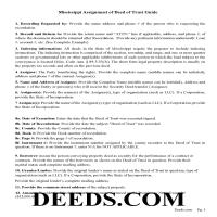 Yazoo County Guidelines for Assignment of Deed of Trust Page 1