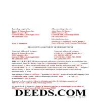 Hinds County Completed Example of the Assignment of Deed of Trust Document Page 1