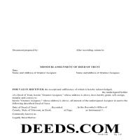 Moniteau County Assignment of Deed of Trust Form Page 1