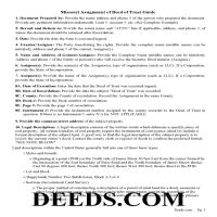 Moniteau County Guidelines for Assignment of Deed of Trust Page 1