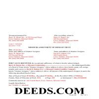 Moniteau County Completed Example of the Assignment of Deed of Trust Document Page 1