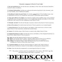Grant County Assignment of Deed of Trust Guidelines Page 1