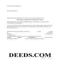 Sevier County Assignment of Deed of Trust Form Page 1