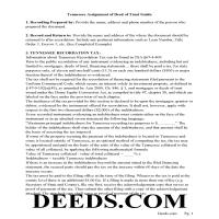 Sevier County Guidelines for Assignment of Deed of Trust Page 1