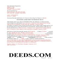 Sevier County Completed Example of the Assignment of Deed of Trust Document Page 1