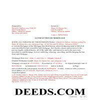 Ouachita County Completed Example of the Satisfaction of Mortgage Document Page 1