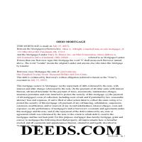 Miami County Completed Example of the Mortgage Document Page 1