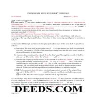 Miami County Completed Example of the Promissory Note Document Page 1