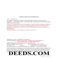 Miami County Completed Example of the Partial Release of Mortgage Document Page 1