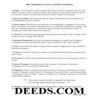 Miami County Guidelines for Satisfaction/Discharge of Assignment of Leases and Rents  Page 1