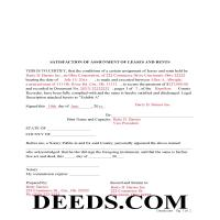 Miami County Completed Example of the Satisfaction of Assignment of Leases and Rents Document Page 1