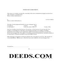 Miami County Notice of Assignment Form Page 1