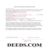San Miguel County Completed Example of the Notice of Assignment of Deed of Trust Document Page 1