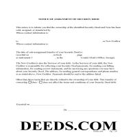 Jeff Davis County Notice of Assignment of Security Deed Form Page 1