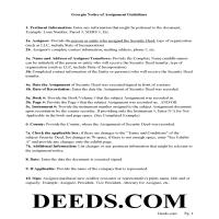 Jeff Davis County Guidelines for Notice of Assignment of Security Deed Page 1
