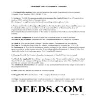 Itawamba County Guidelines for Notice of Assignment of Deed of Trust Page 1