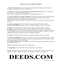 Howard County Guidelines for Notice of Assignment of Deed of Trust Page 1