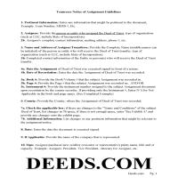 Marshall County Guidelines for Notice of Assignment of Deed of Trust Page 1