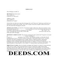 Somerset County Mortgage Form Page 1