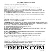 Essex County Promissory Note Guidelines Page 1