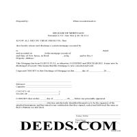 Mercer County  Release of Mortgage Form Page 1
