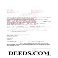 Mercer County Completed Example of the Release of Mortgage Document Page 1