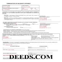 La Crosse County Completed Example of the Termination of Decedents Interest Document Page 1