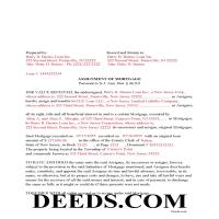 Hudson County Completed Example of the Assignment of Mortgage Document Page 1