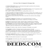 Gloucester County Notice of Assignment of Mortgage Guidelines Page 1