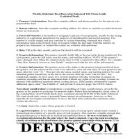 Taylor County Enhanced Life Estate Deed Quit Claim Deed Guide Page 1
