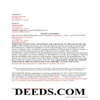 Taylor County Completed Example of the Enhanced Life Estate Quit Claim Deed Document Page 1