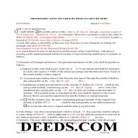 Jeff Davis County Completed Example of the Promissory Note Document Page 1