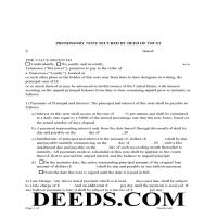 Sevier County Promissory Note Form Page 1