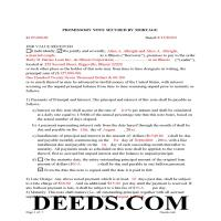 Henderson County Completed Example of the Promissory Note Document Page 1