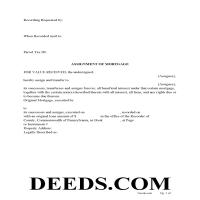 Cameron County Assignment of Mortgage Form Page 1