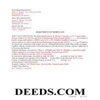 Susquehanna County Completed Example of the Notice of Assignment of Mortgage Document Page 1