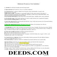Harper County Promissory Note Guidelines Page 1