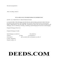 Harper County Full Release and Discharge of Mortgage Form Page 1