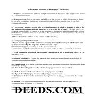 Harper County Release of Mortgage Guidelines Page 1