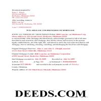 Harper County Completed Example of the Discharge of Mortgage Document Page 1