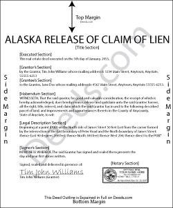 Alaska Release of Claim of Lien Form