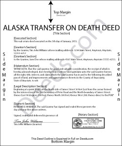 Alaska Transfer on Death Deed Form