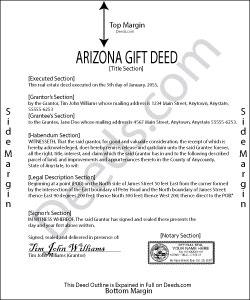 Arizona Gift Deed Form