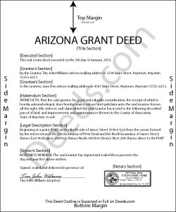 Arizona Grant Deed Condominium Form