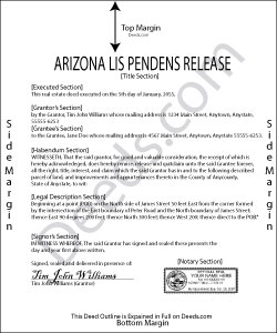 Arizona Lis Pendens Release Form