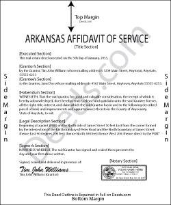Arkansas Affidavit of Service Form