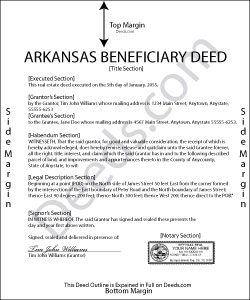 Arkansas Beneficiary Deed Form