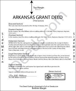 Arkansas Grant Deed Form